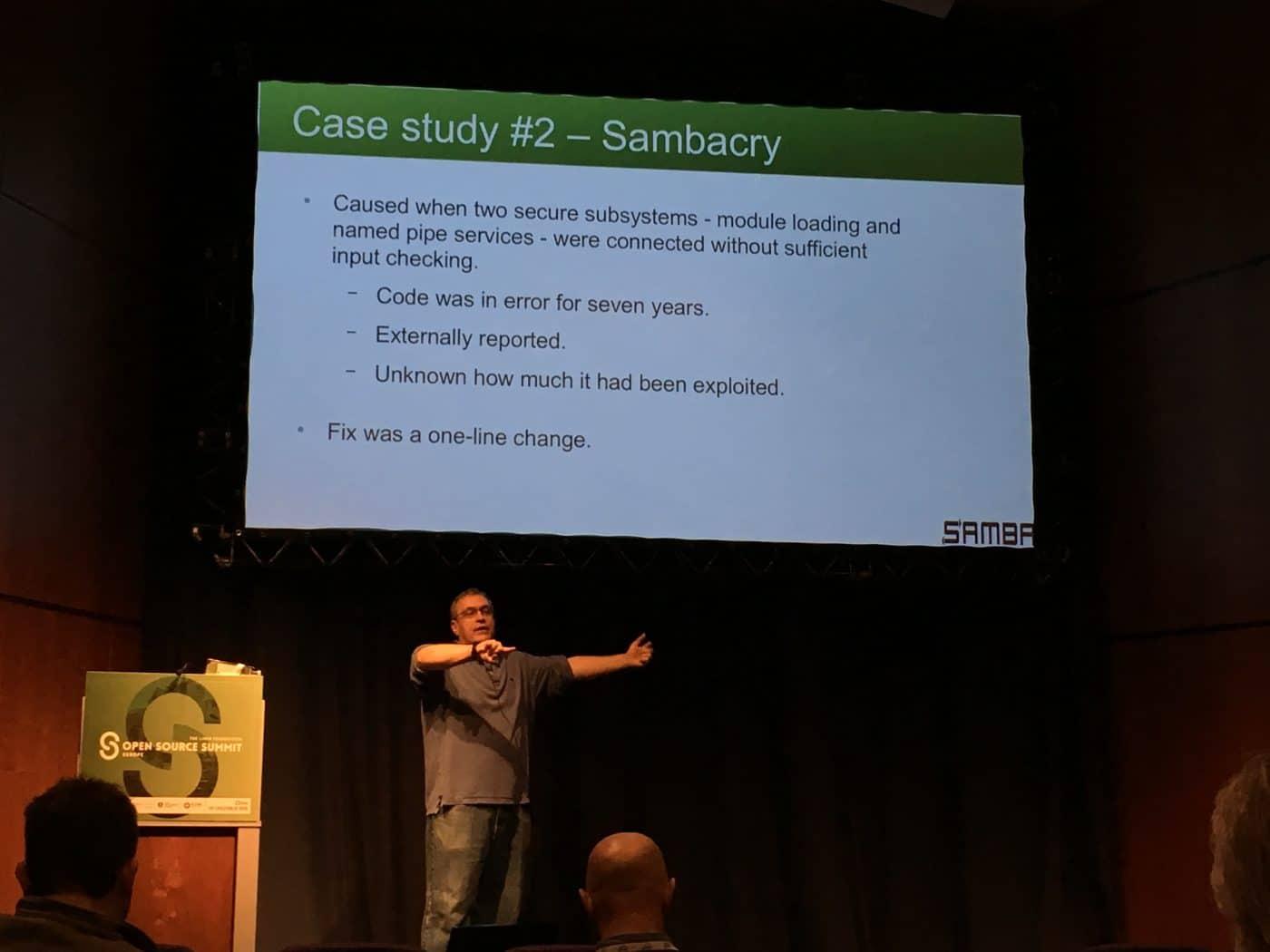 Jeremy Allison talking about the Sambacry vulnerability